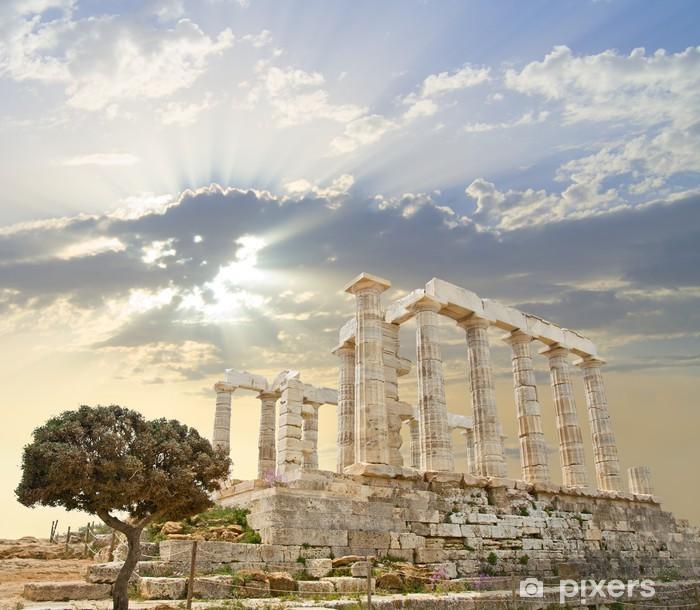 Adesivo Pixerstick Tempio di Poseidone - Temi