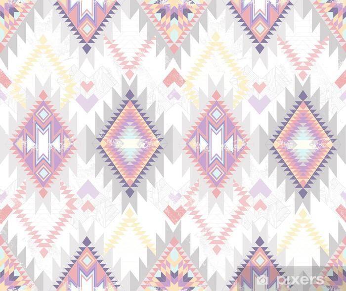 Pixerstick Sticker Abstracte geometrische naadloze aztec patroon. - Stijlen