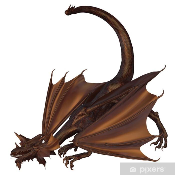 Poster Dragon de bronze - Sticker mural