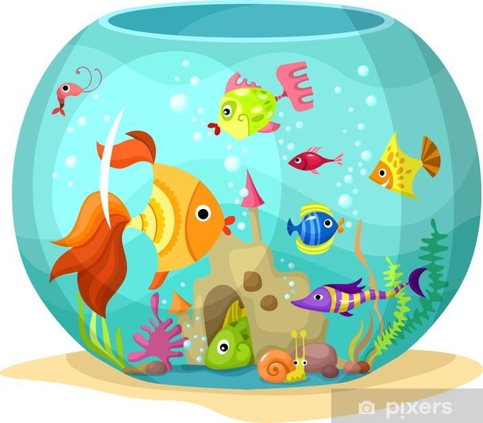 Plakat Akwarium - Zwierzęta żyjące pod wodą
