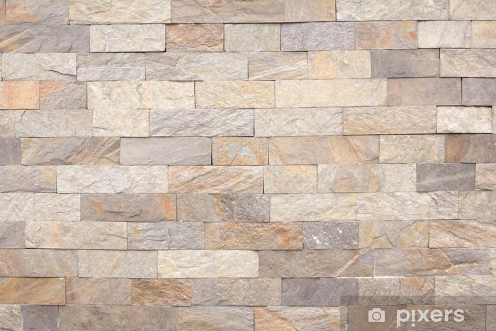 Stone Brick Wall Sticker Pixerstick