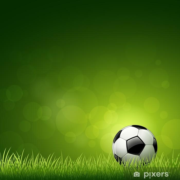 Vinilo Balón de fútbol sobre la hierba verde de vectores de fondo Pixerstick e12ec762d010d