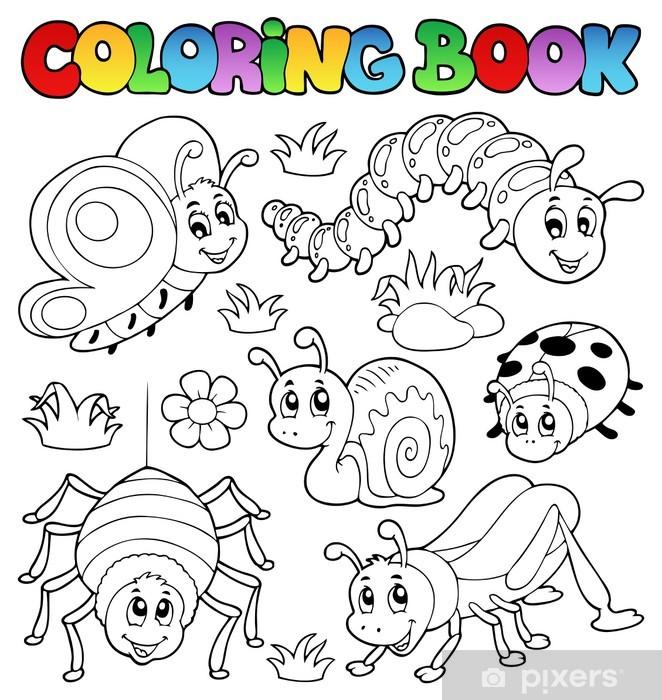 Sticker Livre De Coloriage Mignons Insectes 1 Pixers Nous