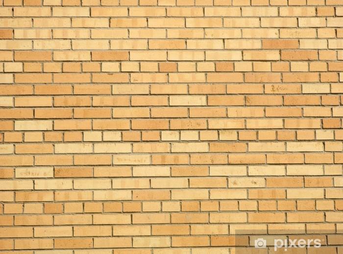 The texture of yellow brick Pixerstick Sticker - Heavy Industry