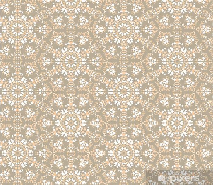 Vinyl-Fototapete Seamless floral Mosaik-Muster Hintergrund - Hintergründe