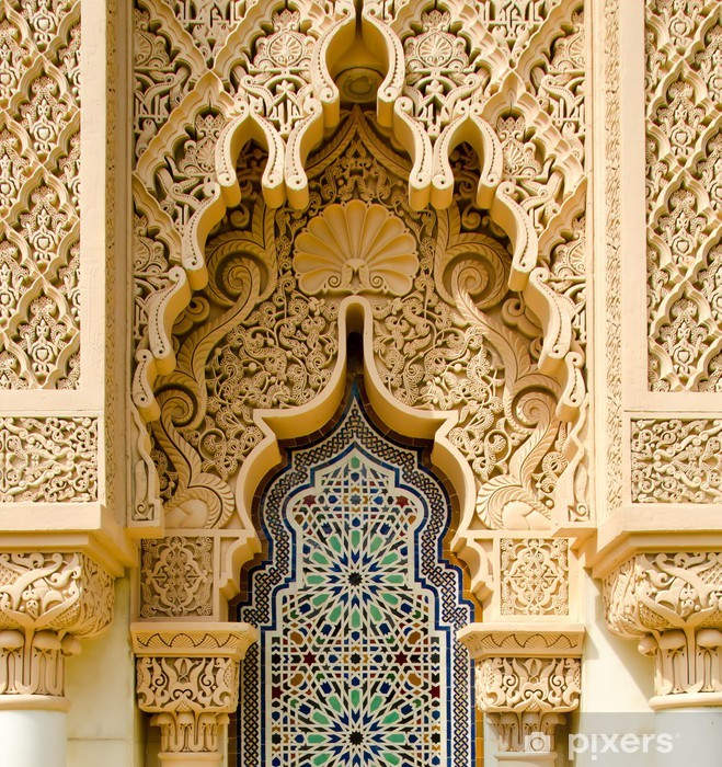 Moroccan architecture traditional Vinyl Wall Mural - iStaging