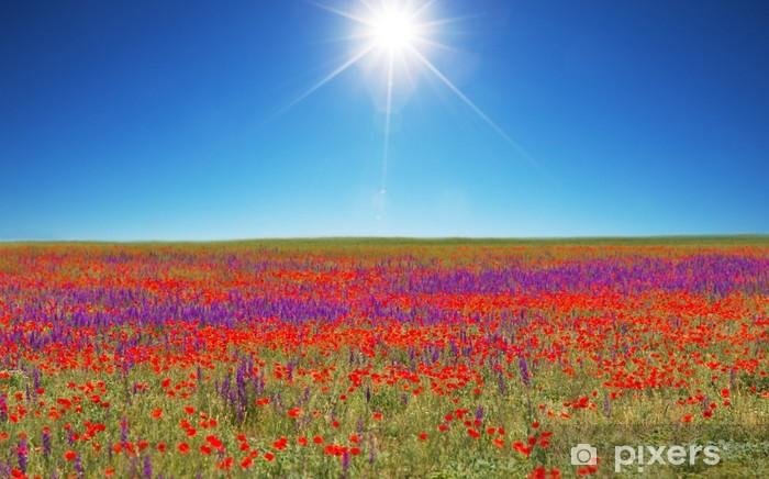 Pixerstick Aufkleber Mohnblume - Landwirtschaft