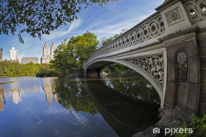 Naklejka Pixerstick Central Park Bow bridge - Miasta amerykańskie