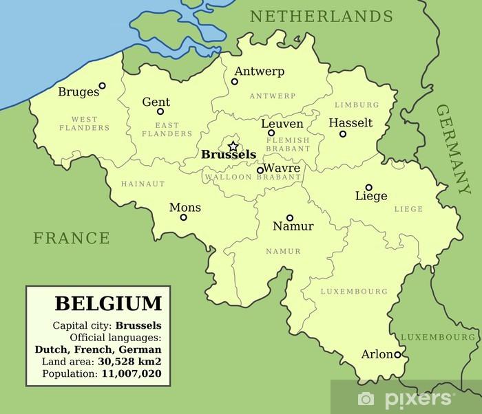 Map Of Belgium Wall Mural Pixers We Live To Change