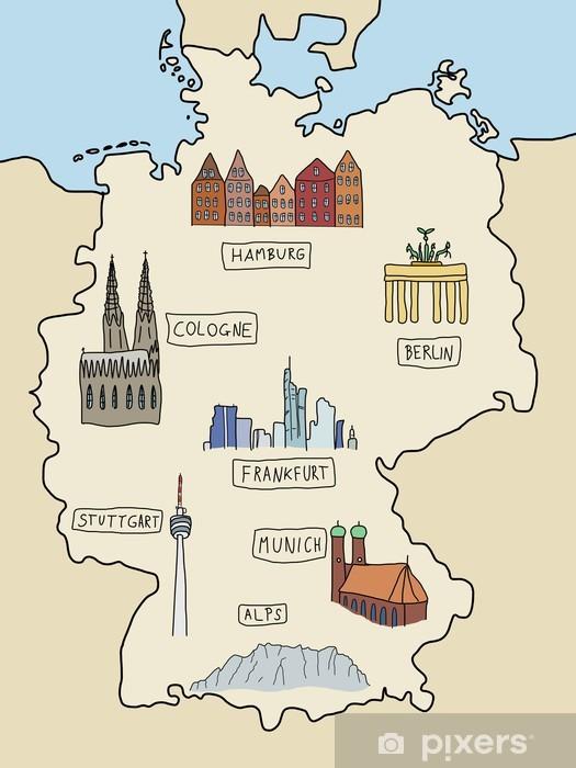 Naklejka Pixerstick Zabytki Niemcy - Niemcy