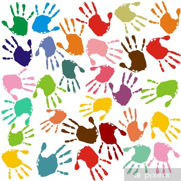 Fotomural Estándar Handprints -
