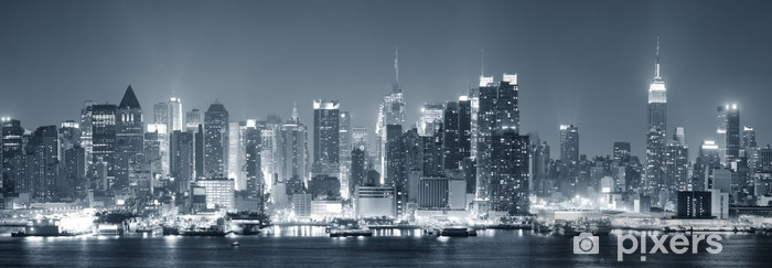 New York City Manhattan black and white Pixerstick Sticker - Themes