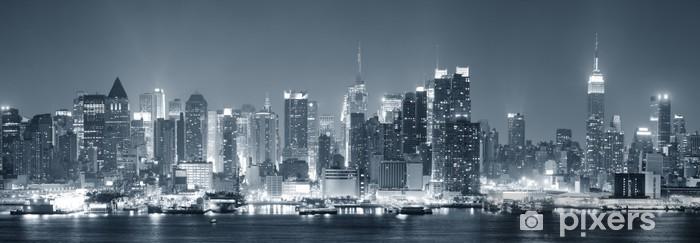New York City Manhattan black and white Vinyl Wall Mural - Themes