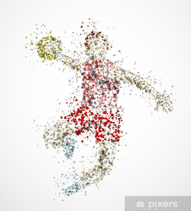 Fototapeta winylowa Abstract handball player - Sporty drużynowe