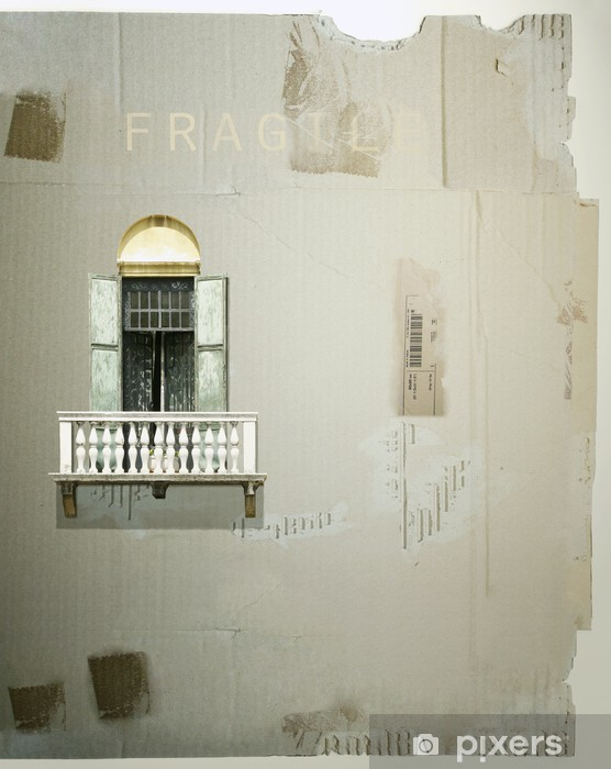 Naklejka Pixerstick Francuski okno na tekturze - Życie