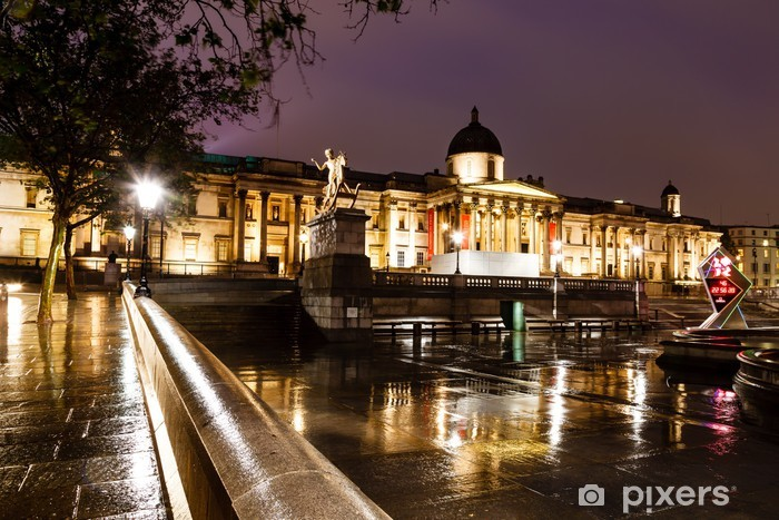 Naklejka Pixerstick National Gallery i Trafalgar Square w nocy, London, Jednostka - Wakacje