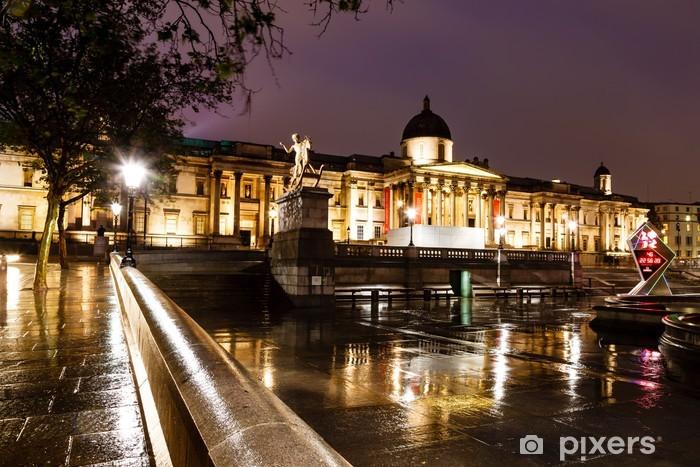 Sticker Pixerstick National Gallery et Trafalgar Square pendant la nuit, Londres, Unité - Vacances