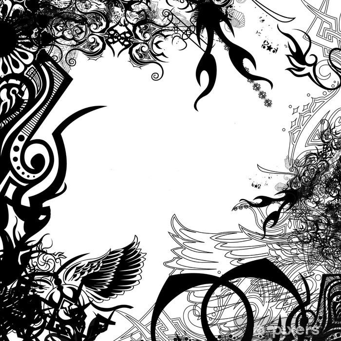 Papier peint vinyle Symboles de cadres - Art et création