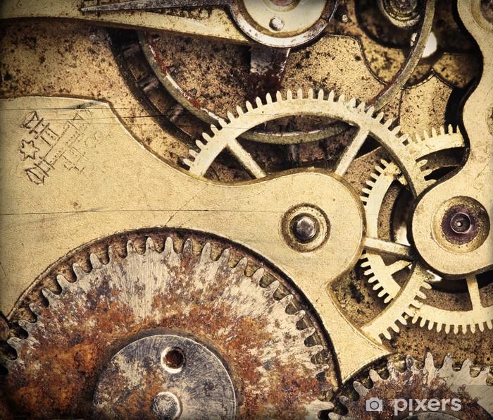 Fototapeta winylowa Close-up z mechanizmem zegarowym - Zegary