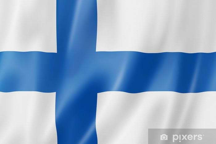 Vinyl Fotobehang Finse vlag - Vakantie