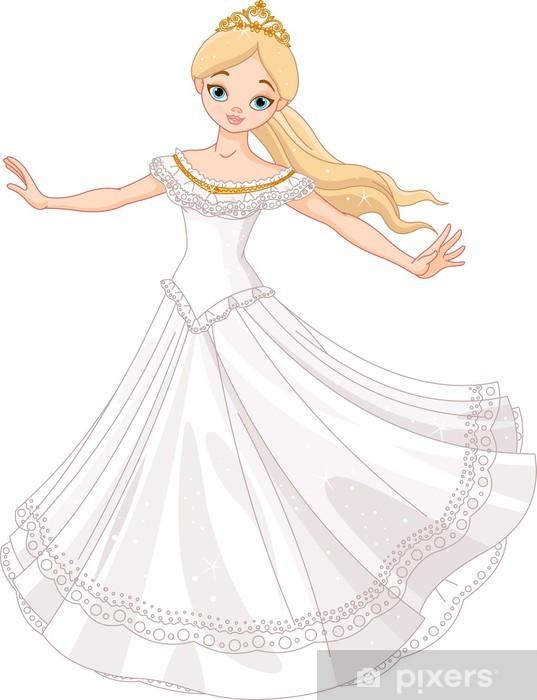 Naklejka Pixerstick Taniec księżniczka - Naklejki na ścianę