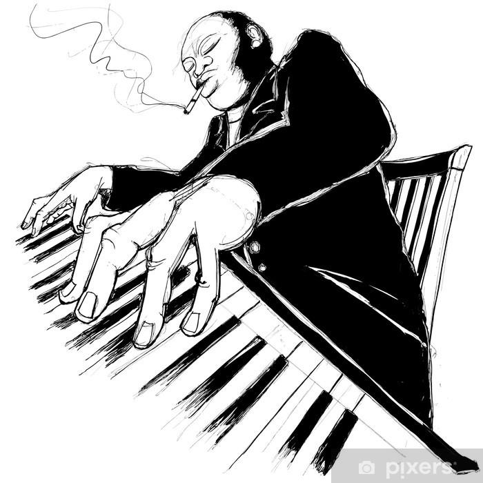 Fotomural Autoadhesivo Ragtime pianista - Jazz