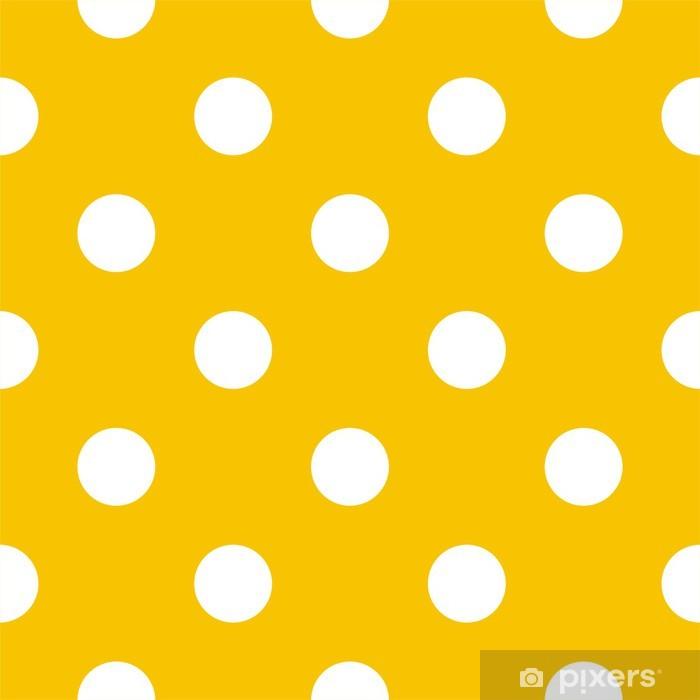 Papier peint Pois sur fond jaune rétro modèle vectoriel transparente