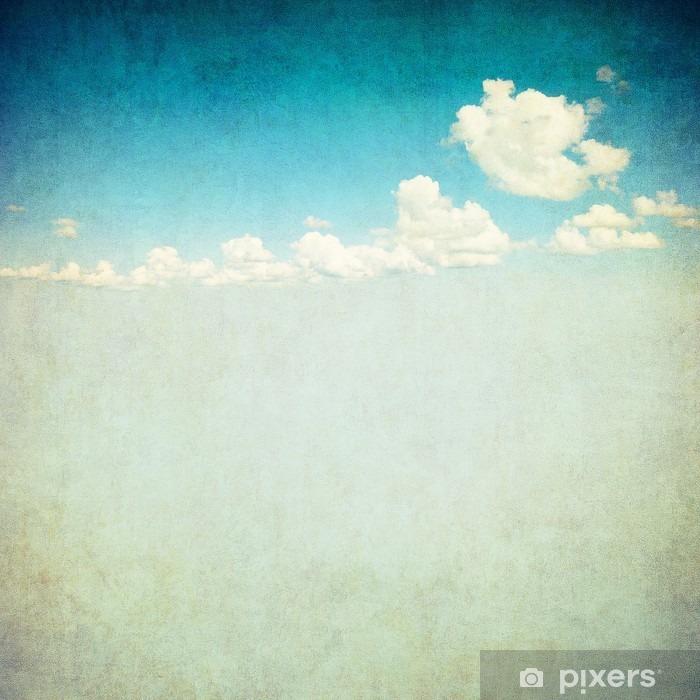 Poster Rétro image de ciel nuageux - Styles