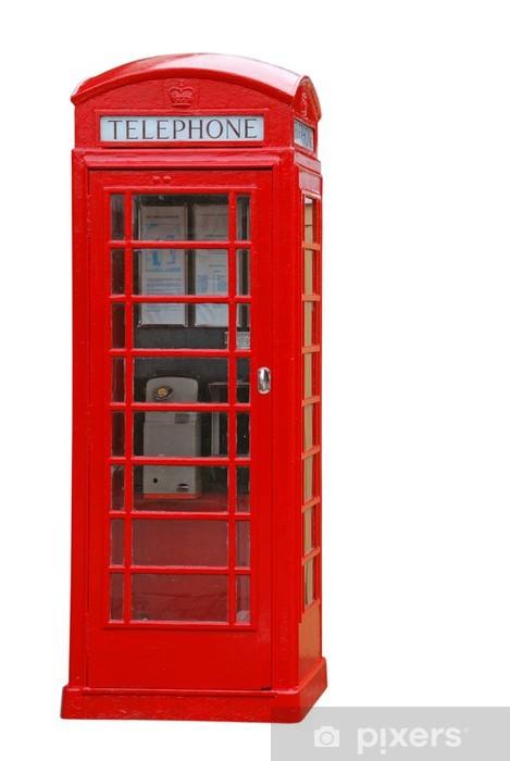Papier peint vinyle Cabine téléphonique britannique - Objets et accessoires