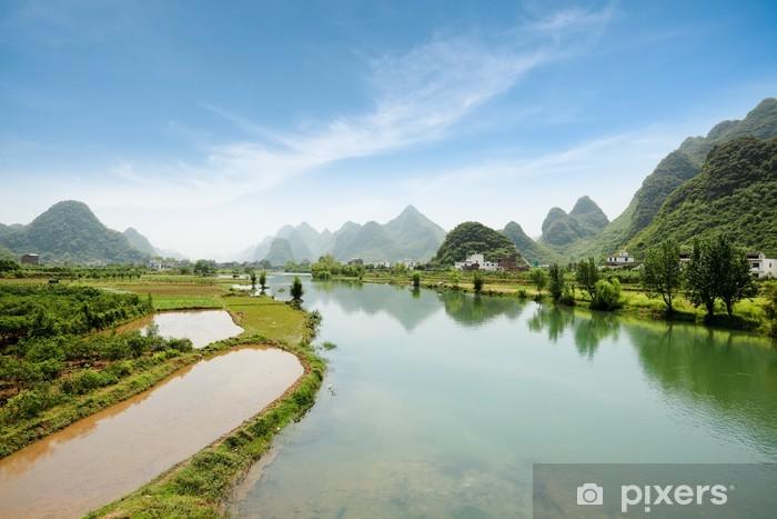 Papier peint vinyle Paysages de Yangshuo en Chine - Nature et régions sauvages