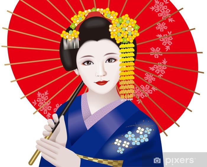 Vinilo Pixerstick Geisha - Asia