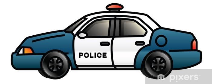 Papier peint vinyle Voiture police - Sur la route