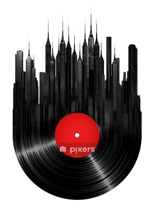Vinyl city Wall Decal - Wall decals