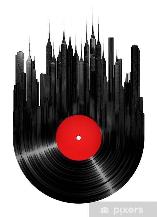 Carta da Parati in Vinile Vinyl città - Adesivo da parete