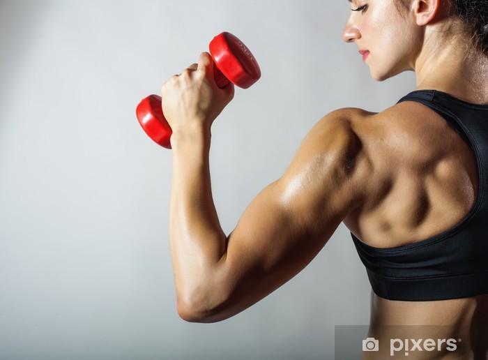 Naklejka Pixerstick Kobieta fitness - Zdrowie