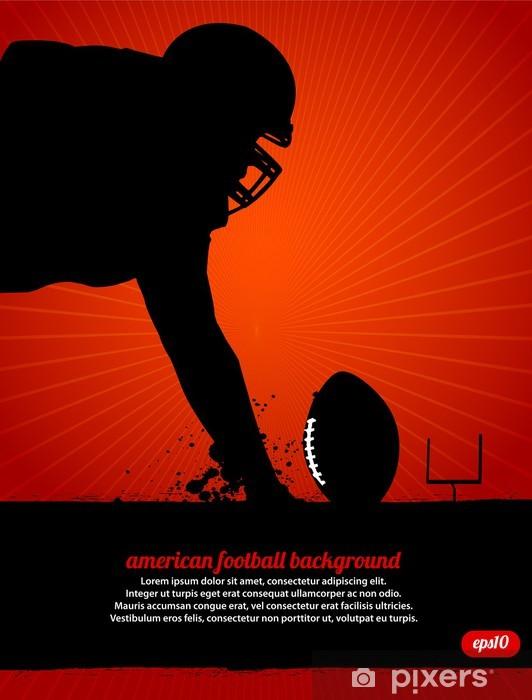 Vinylová fototapeta Americký fotbal Vector Plakát - Vinylová fototapeta