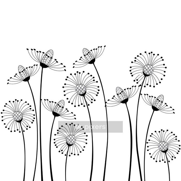 Naklejka na ścianę Kwiaty polne - Nauka i natura
