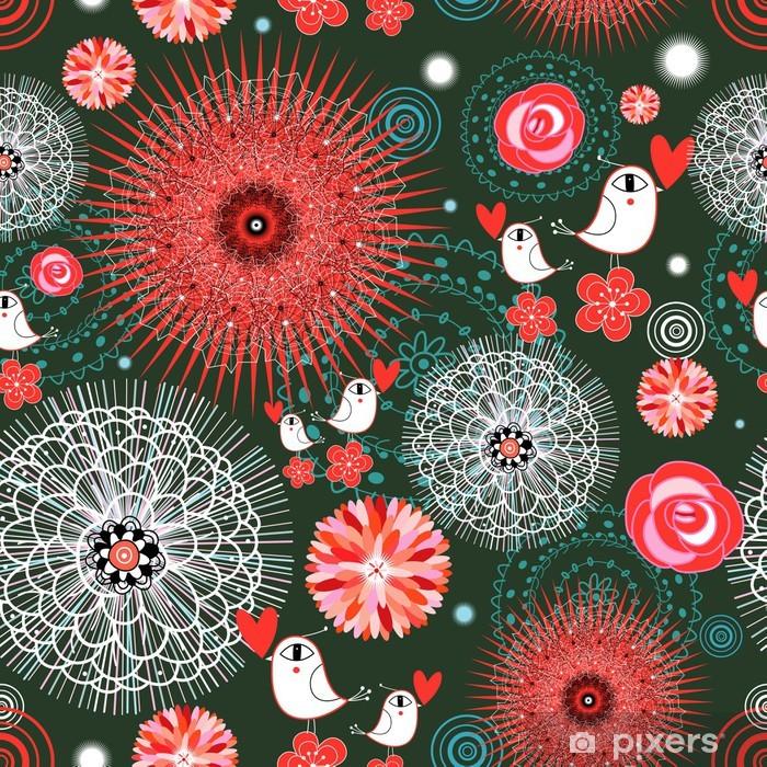 Nálepka Pixerstick Abstraktní textury s ptáky - Mezinárodní svátky