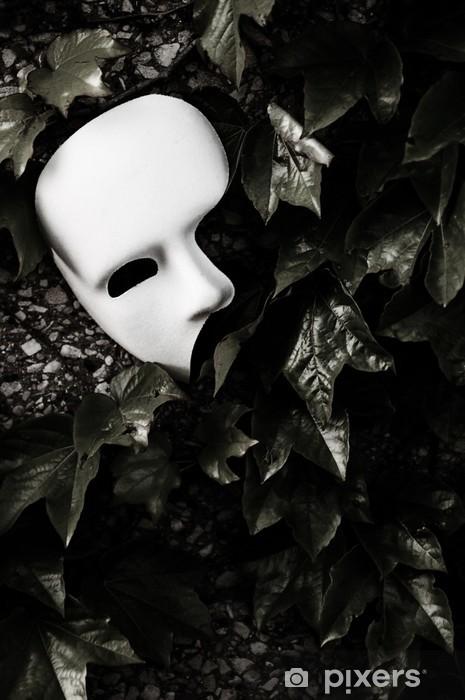 Aufkleber Masquerade Phantom Der Oper Maske Auf Efeu Wand Pixerstick