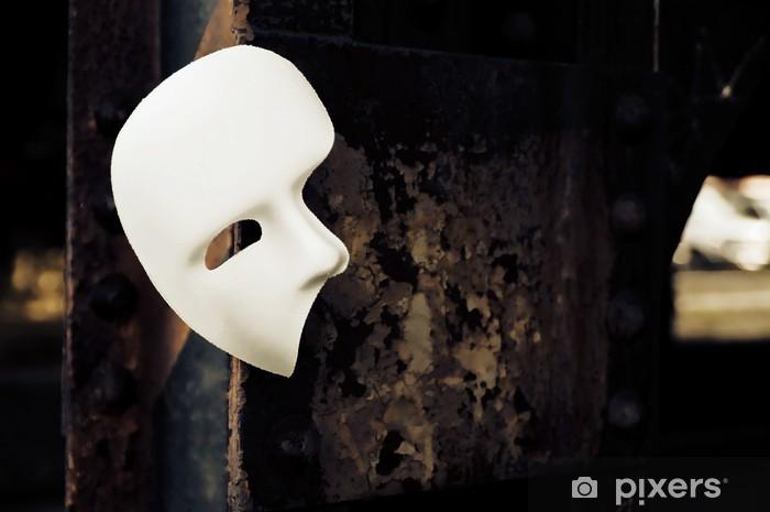 Aufkleber Masquerade Phantom Der Oper Maske Auf Rusty Brücke Säule Pixerstick