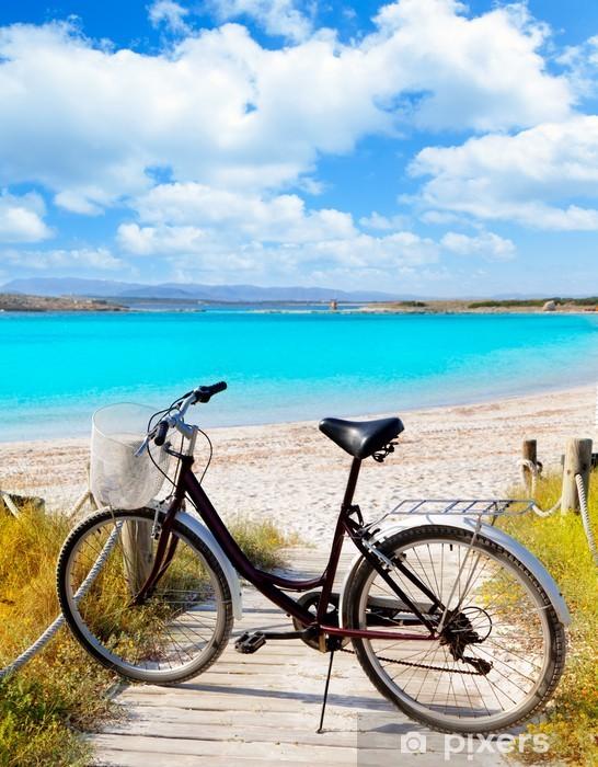 Naklejka Pixerstick Rower w Formentera plaży na Balearach - Wakacje