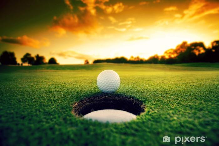 Papier peint vinyle Balle de golf près du trou - Sports individuels