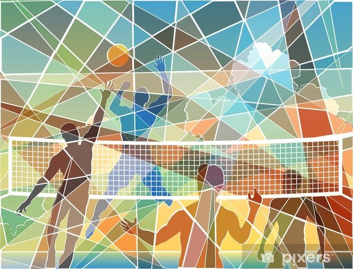 Fototapeta zmywalna Mozaika Siatkówka - Siatkówka