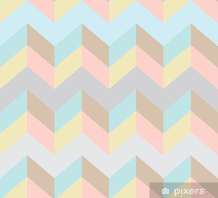 Carta da Parati in Vinile Seamless chevron pattern. - Temi