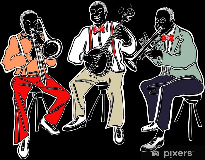 Vinyl-Fototapete Jazzband - Musik