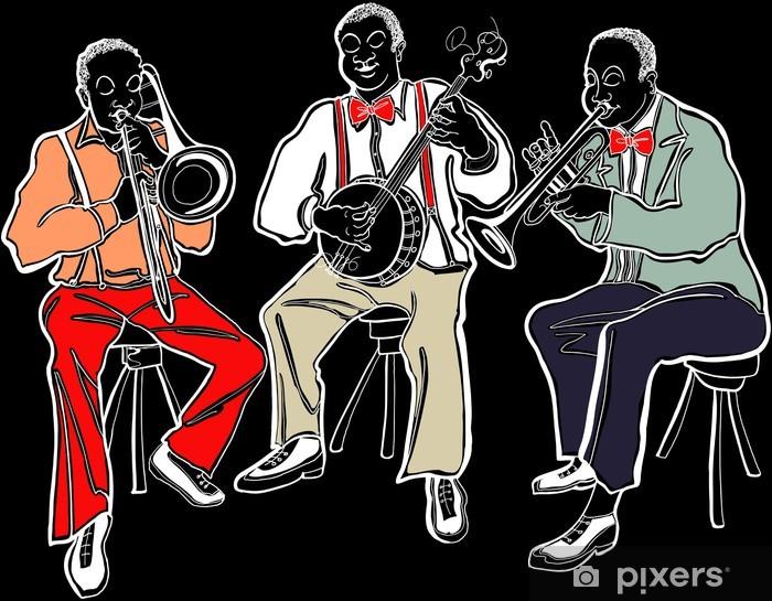 Papier peint vinyle Groupe de jazz - Musique