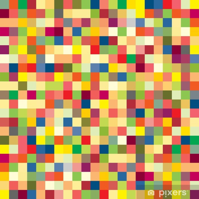 Colorful pixel pattern Vinyl Wall Mural - Themes