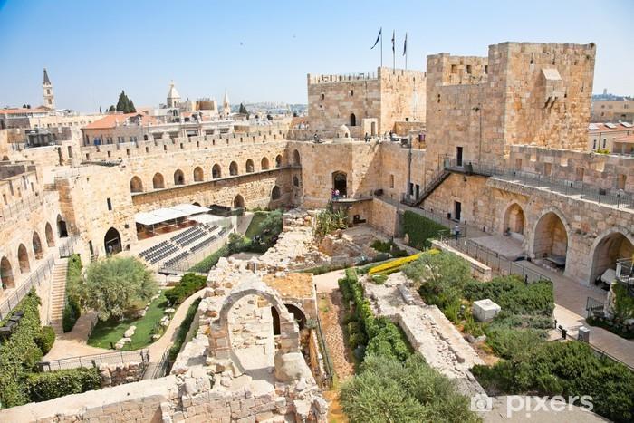 Tower of David in Jerusalem, Israel Pixerstick Sticker - Themes