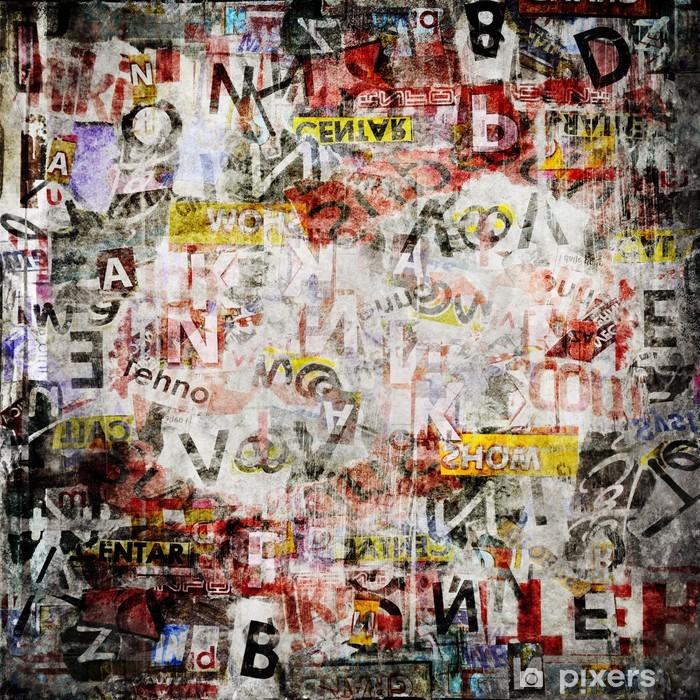 Grunge textured background Pixerstick Sticker - Themes