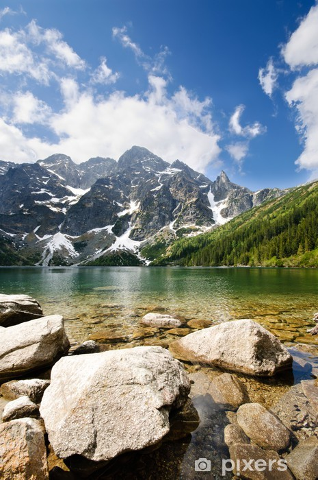 Morskie Oko lake in Polish part of Tatra mountains Vinyl Wall Mural - Themes